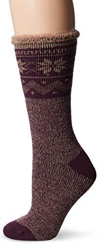 Muk Luks Womens Heat Retainer Thermal Boot Socks