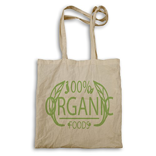Cibo Biologico 100% Naturale Cuoco Verde Arte Tragetasche C851r