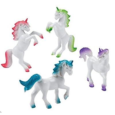 VINYL UNICORN FIGURES - Toys - 12 Pieces: Toys & Games