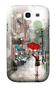 S0108 Girl in The Rain Case Cover for Samsung Galaxy S3