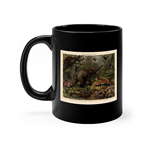 Asian Wildlife Chromolithograph Published In 1897 Coffee Mugs 11 Oz Ceramic