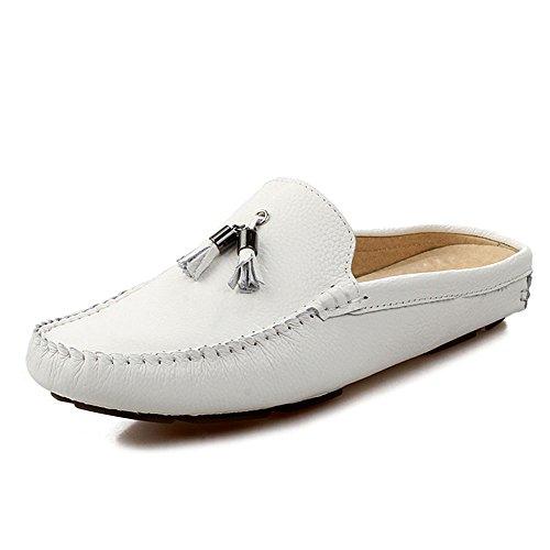 Blanco Casuales Cuero sólido de Gamuza de Color de Zapatos de Verano vwRd1nq