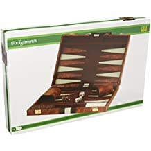 """18"""" Brown and White Backgammon Set"""