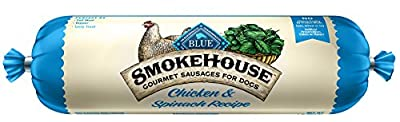 Blue Smokehouse Gourmet Sausages Adult Chicken & Spinach Recipe Dog Food Roll 1-Lb from Blue Buffalo Company, Ltd