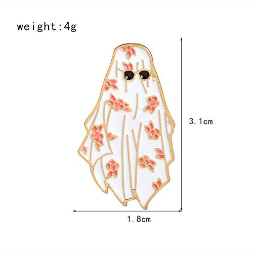 New Lovely Cute Cartoon Enamel Lapel Collar Pin Corsage Brooch Breastpin Jewelry | Color - 4 Halloween Ghost Girl