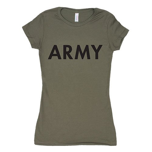 Fox Outdoor Products Women's Army Cotton Tee, Olive Drab, X-Large