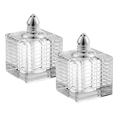 Badash H244P Handmade Lead Free Crystal Pair Salt and Pepper
