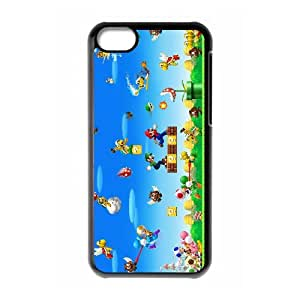 Super Mario Bros iPhone 5c Cell Phone Case Black xlb-257556