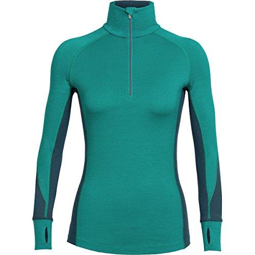 (Icebreaker Merino Women's Winter Zone Long Sleeve Half Zip Top, Nautical/Harmony/Wild Rose, Medium)
