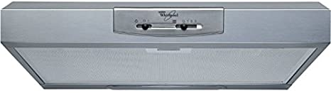 Whirlpool WSLK 66 ASX - Campana (240 m³/h, Canalizado, 67 dB, De pared, Gris, Barra de desplazamiento)