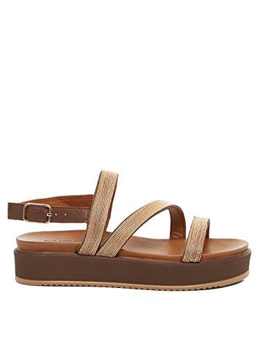 Inuovo - Sandalias de vestir de Cuero para mujer marrón marrón oscuro marrón oscuro