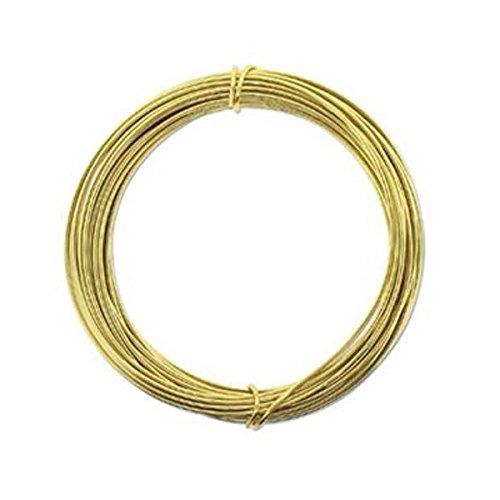 Aluminum Craft Wire 12 Gauge 39 Feet Light Gold