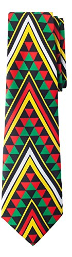 Jacob Alexander South Africa Country Men's Necktie - Sierpinski Triangle Pattern Design by Jacob Alexander
