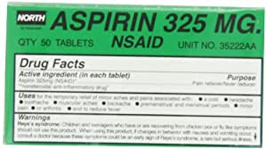 North by Honeywell 35222AA Aspirin 325 mg, 50 per unit
