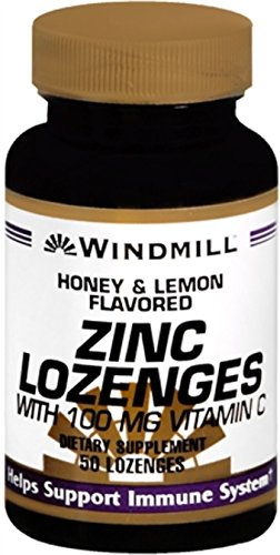 Windmill Lozenges Vitamins (Windmill Zinc Lozenges With C Honey Lemon 50 Each (Pack of 4))