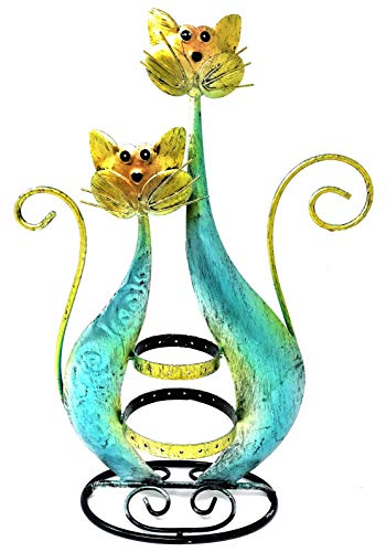 - Bejeweled Display®Twin Blue Cat Fancy Earring Stand~Organizer~Holder Jewelry Display w/ Gift Box