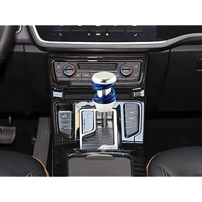 LUNSOM Manual Automatic Transmission Universal Car Shifter Knob Blue Aluminium Alloy Knobs Shift Gear Stick Head: Automotive
