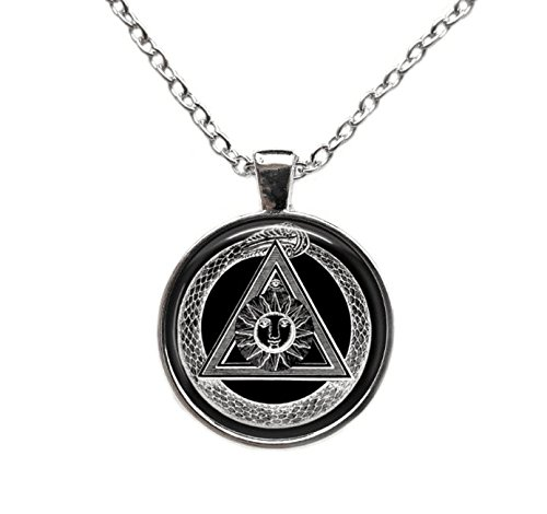 New order alchemy symbol pendant Masonic illuminati necklace Occult jewelry (Illuminati Stone)