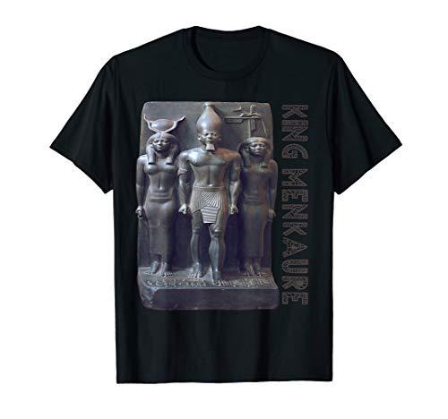 King Menkaure guided by Goddess Hathor Old Egyptian gift - Hathor Goddess Egyptian