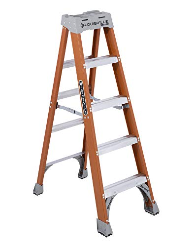 - Louisville Ladder FS1505 300-Pound Duty Rating Fiberglass Step Ladder, 5-Feet