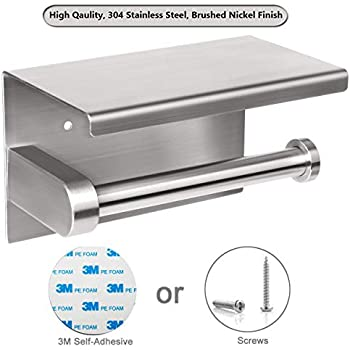 Amazon.com: Labkiss Self Adhesive Toilet Paper Holder with