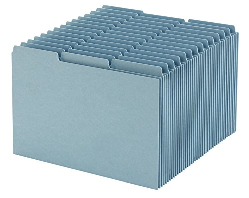 Oxford Index Card Guides with Blank Tabs, 5 x 8 Inches, 1/3 Cut Tabs, Blue, 100 per Box (P513EE)