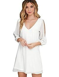 KingsCat Women's Off Shoulder Long Sleeve Swimwear Cover Up / Beach Dress