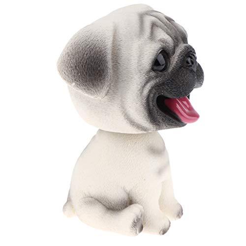 - SM SunniMix Resin Shaking Head Dog Puppy Bobble Head Animal Model, Car Vehicle Dashboard Decors, Dollhouse Miniature Pets - Pug