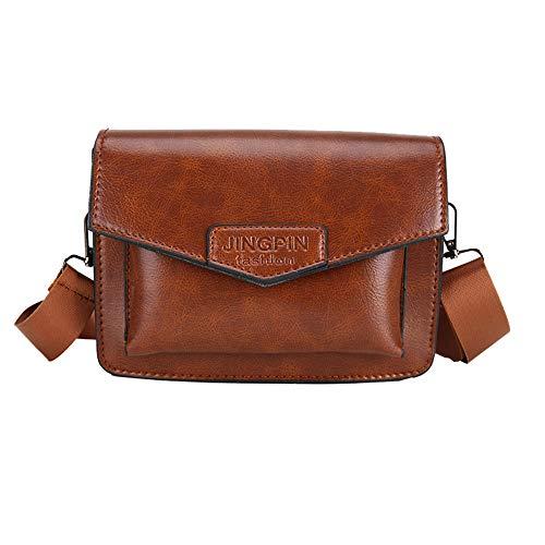 Patent Leather Shoulder Bag Womens Flap Bag Crossbody Phone Bag Hand Bag Brown