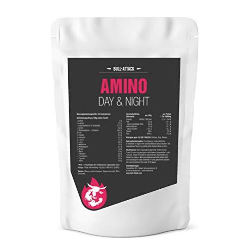 AMINO DAY&NIGHT | 500 Tabletten hochdosierter Aminosäuren Komplex á 1000mg | Alle 18 Aminos für die optimale Versorgung der Muskulatur auch in Diät