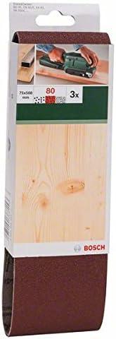 Bosch Professional Schleifband f/ür Bandschleifer Holz und Farbe Best for Wood and Paint 3 St/ück, K/örnung 80, X440