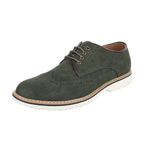 lacets Design homme Ital Chaussures Olive Grün à xFqxT7wn