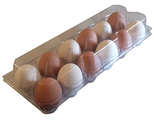 24 PACK RITE FARM PRODUCTS 12 EGG CLEAR POLY CHICKEN CARTON TRAY POULTRY S-JUMBO by Rite Farm Products (Image #4)