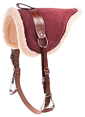 New Western English Horse Riding Bareback Pad Premium Treeless Saddle Leather Stirrups Comfy Horse Saddle Tack