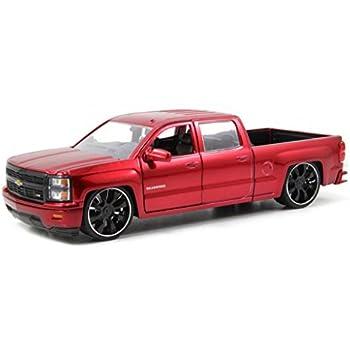 Custom Chevy Silverado >> Jada 2014 Chevy Silverado Custom Edition Just Truck Series 1 24 Scale Red