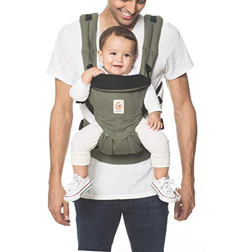 4-Position Omni 360 French Bull Ergobaby Baby Carrier for Newborn to Toddler Ergonomic Child Carrier Backpack Flores