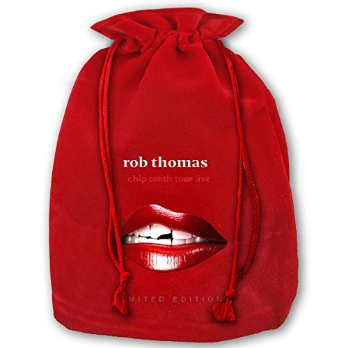 AnneSEmberton Rob Thomas Drawstring Bags Large Christmas Bag Santa Bags for Kids Storage Bag - 13.78 X 17.71 Inch/35x45cm