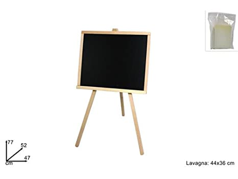vetrineinrete® Pizarra con Caballete de madera 44 x 36 cm ...