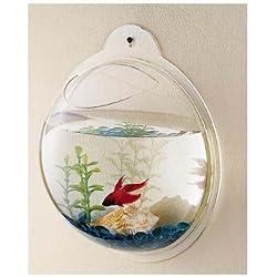 CNZ Wall Mounted Acrylic Fish Bowl, 11.5-inch
