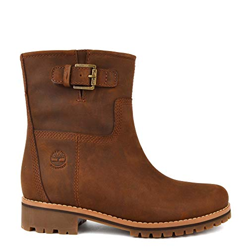 Timberland Femme Hill Bottes Main Motardes Marron rwIBr6q