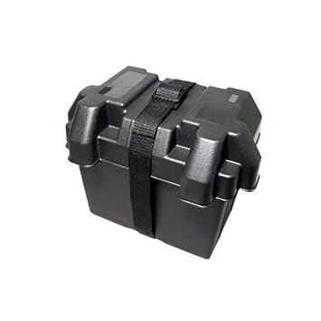 Depot2U Marine 12V Freizeit Batteriebox mit USB-Ladeger/ät LED Meter