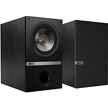 KEF Q100 Bookshelf Loudspeakers - Black Oak (Pair)