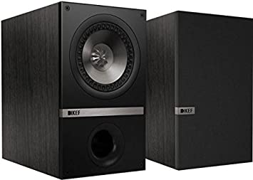 kef bookshelf speakers. kef q100 bookshelf loudspeakers - black oak (pair) kef speakers