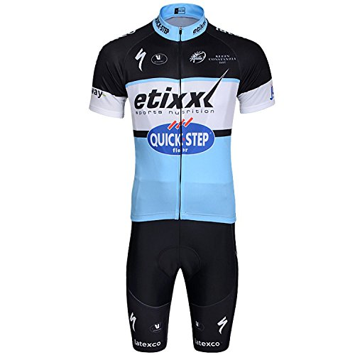 2016 Outdoor Sports Pro Team Men's Short Sleeve Quick Step Cycling Jersey Bicycle Bike Cycle Jacket Comfortable Breathable Cycling Clothing and Bib Shorts Set