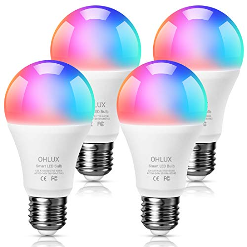 Tunable White Dimmable Works with Alexa and Google Assistant LED Light Bulb E26 A19 9W 800LM Smart Light Bulb Treatlife Smart Bulb 2.4GHz WiFi No Hub Required 60W Equivalent
