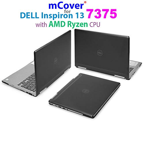 mCover Hard Shell Case for 13.3 Dell Inspiron 13 7375 (with AMD Ryzen CPU) 2-in-1 Convertible Laptop Computers (Dell I13-7375-AMD Black)