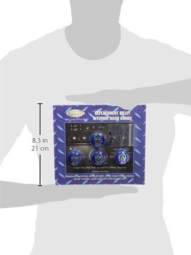 All Sales 5409SKB Blue Interior Knob ALS:5409SKB