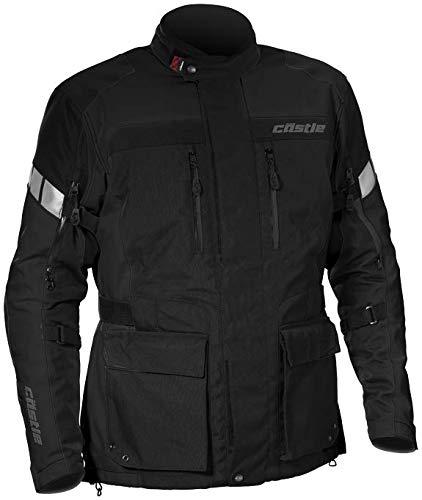 - Castle Distance Mens Motorcycle Jacket - Black - 4XL