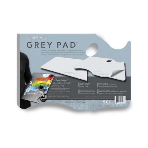 New Wave® Grey Pad® Hand Held Paper Palette 11''x16''
