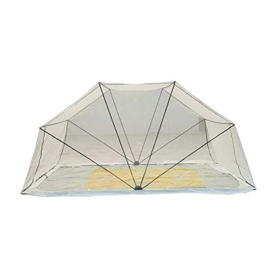 Comfort Mosquito Net Foldable Poly Cotton Mosquito Net for Healthy and Sound Sleep (2 1/2 x 6, Ivory)